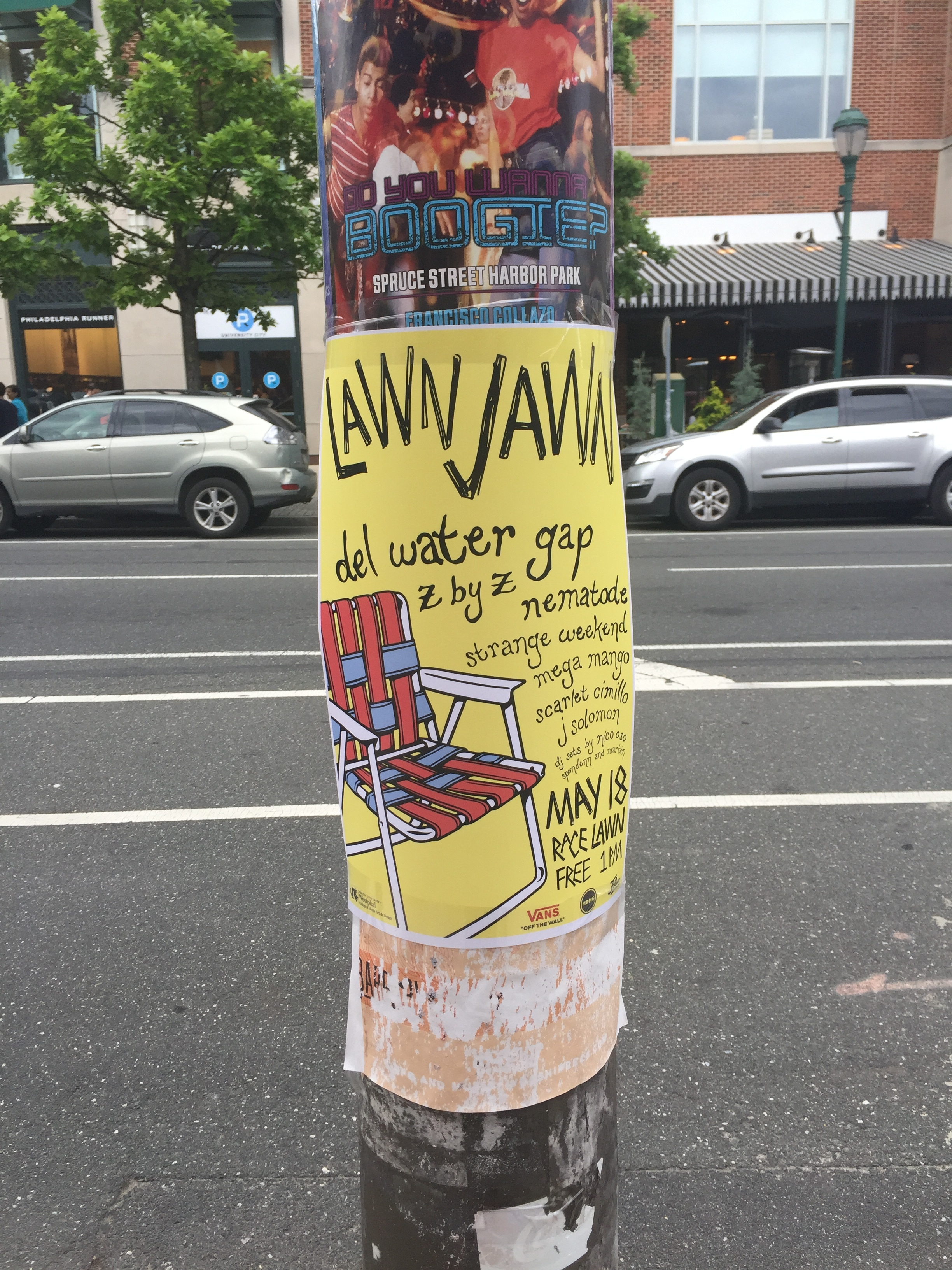 Poster hung up around University City, Philly