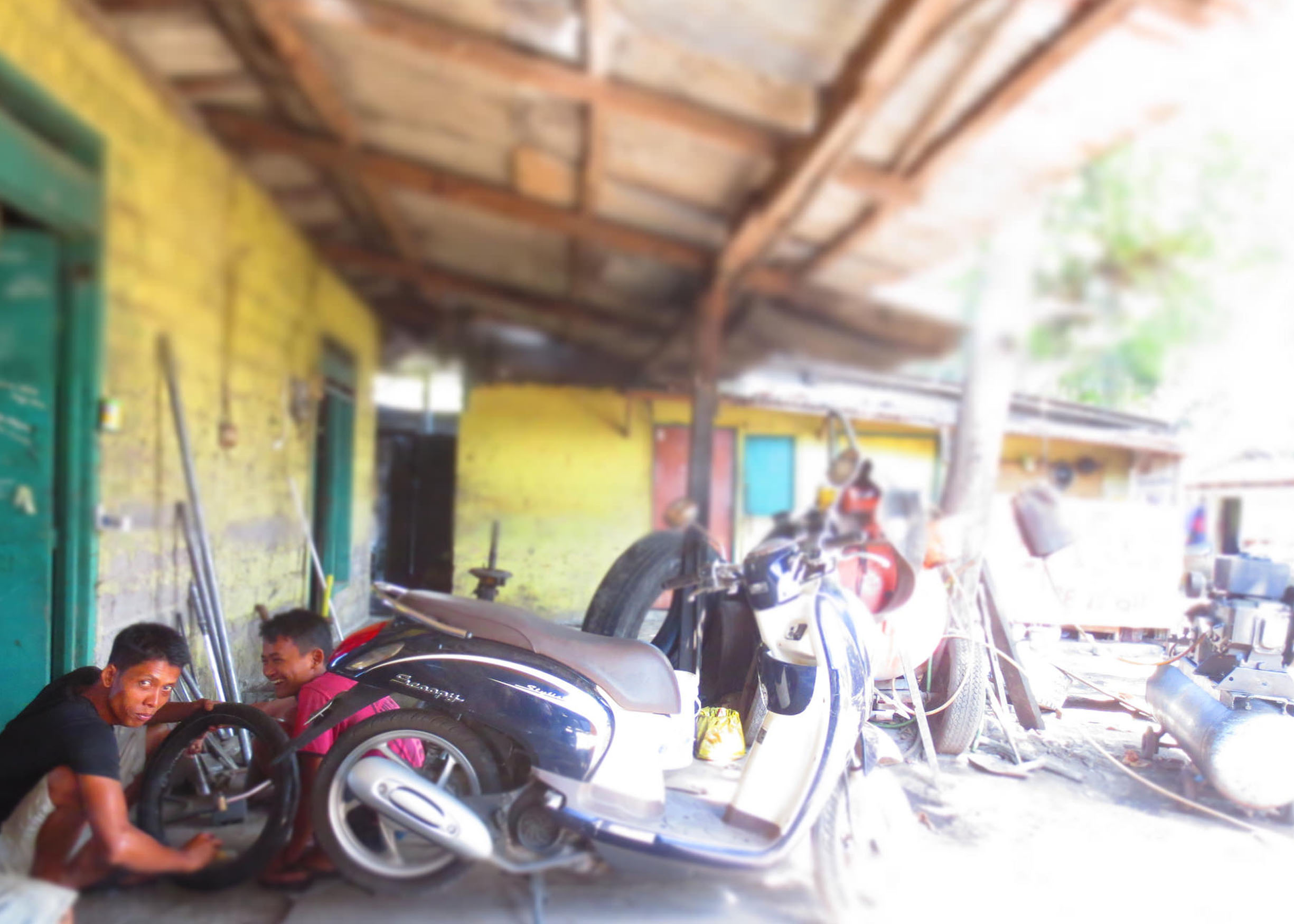 flat tire in Denpasar
