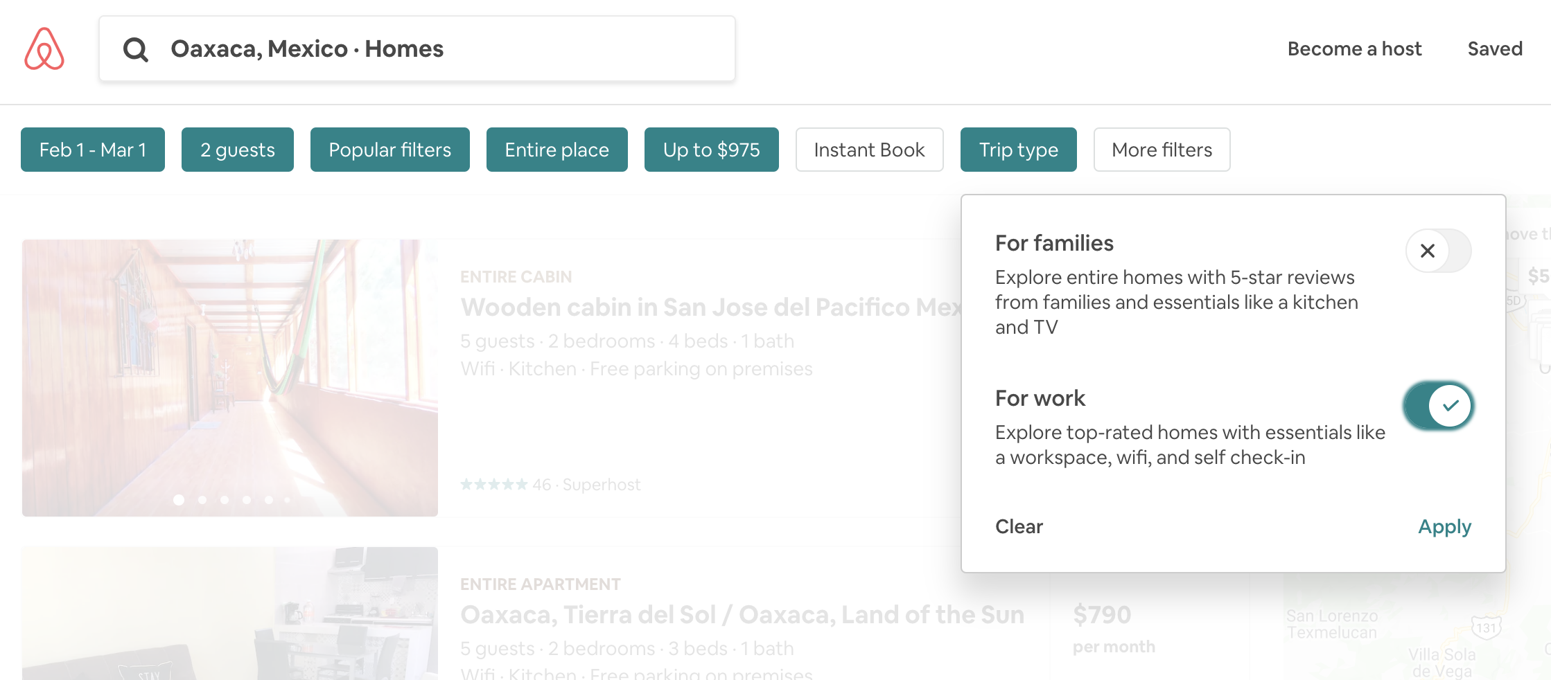 Airbnb filters for digital nomads