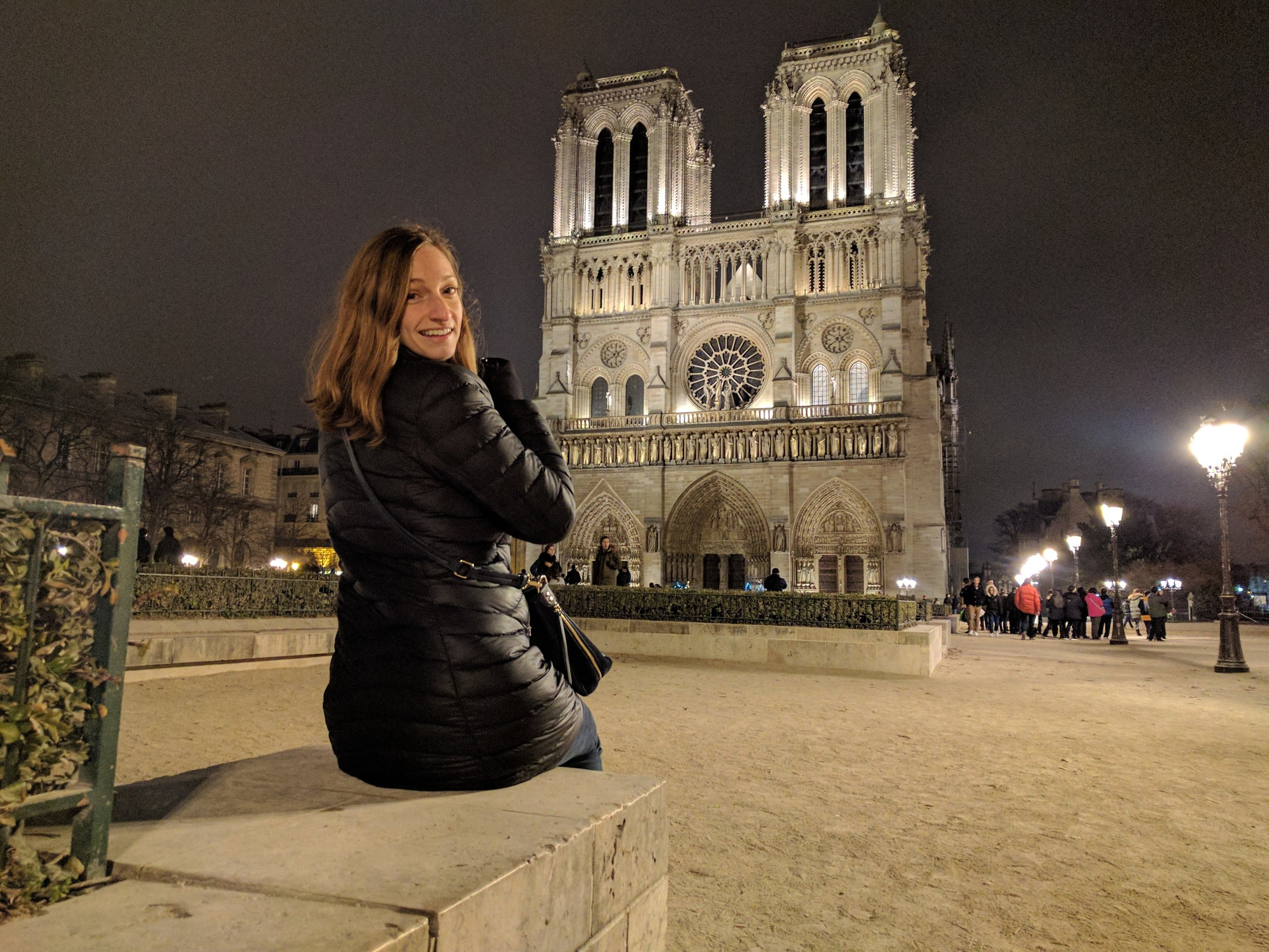 I was happy to have my light patagonia down jacket for December in Paris.