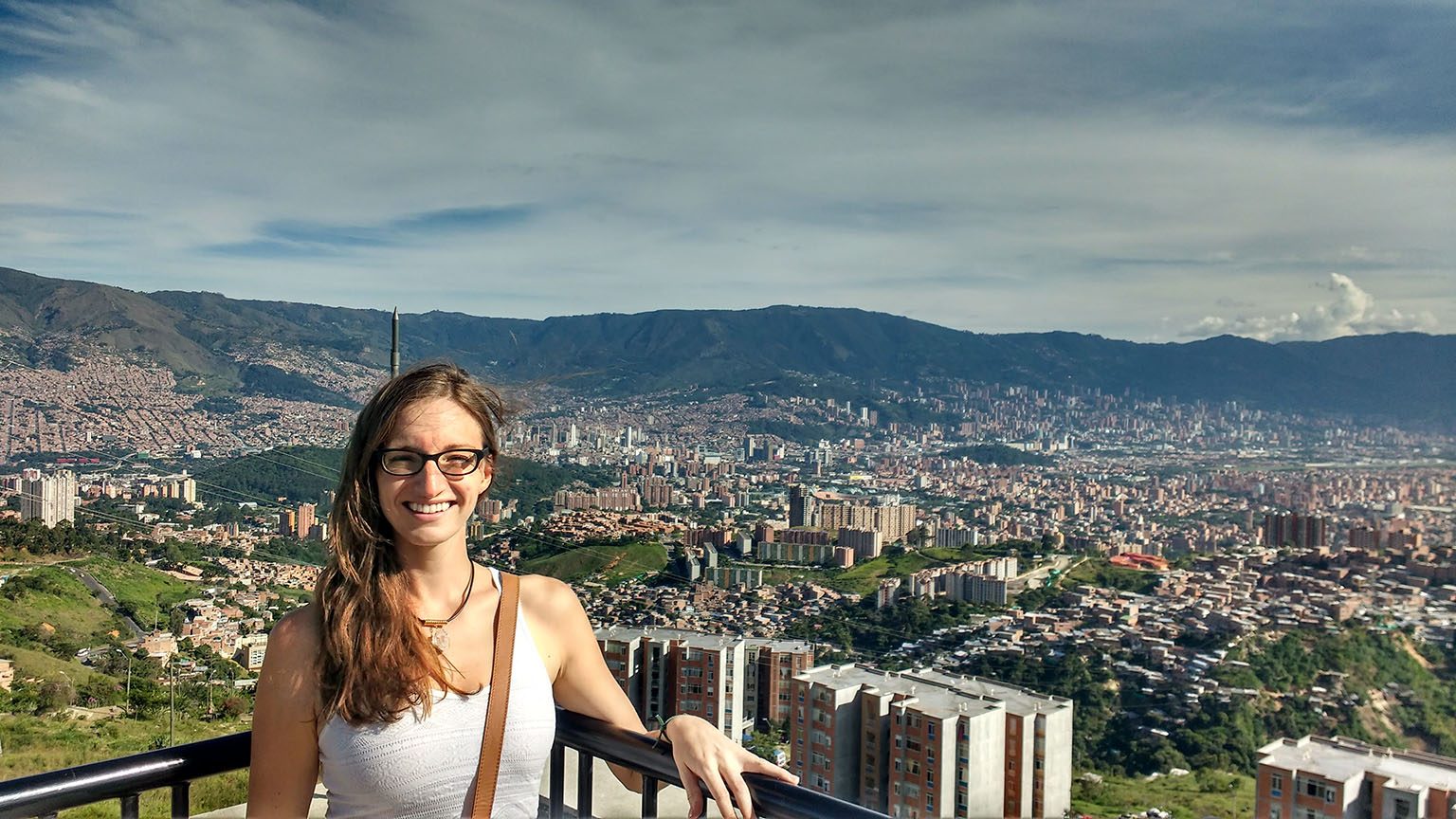One of numerous gorgeous viewpoints in Medellin, Colombia