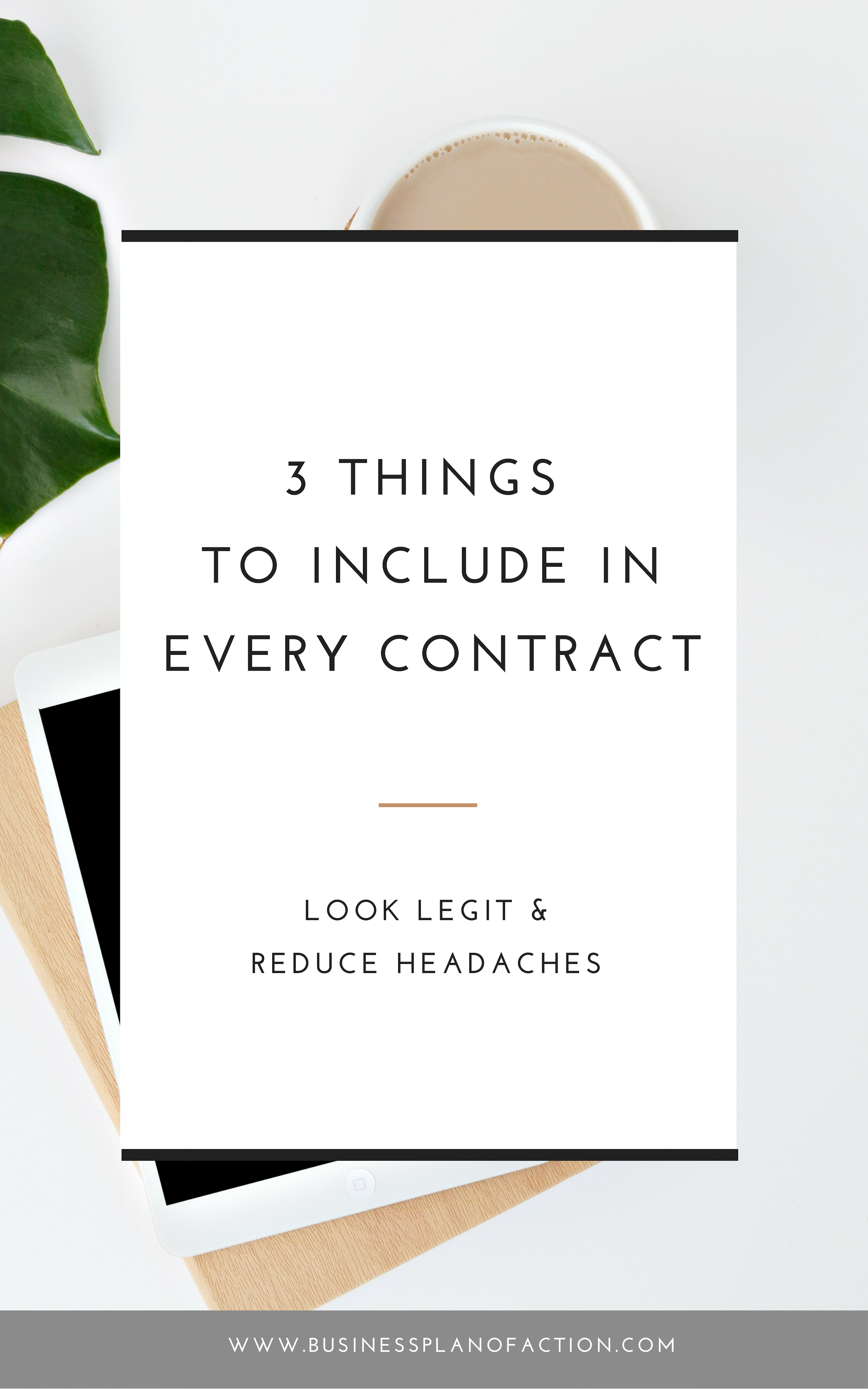 Do you know what you need to include in your service-based contract to protect yourself and your time? Find out my three must-haves.