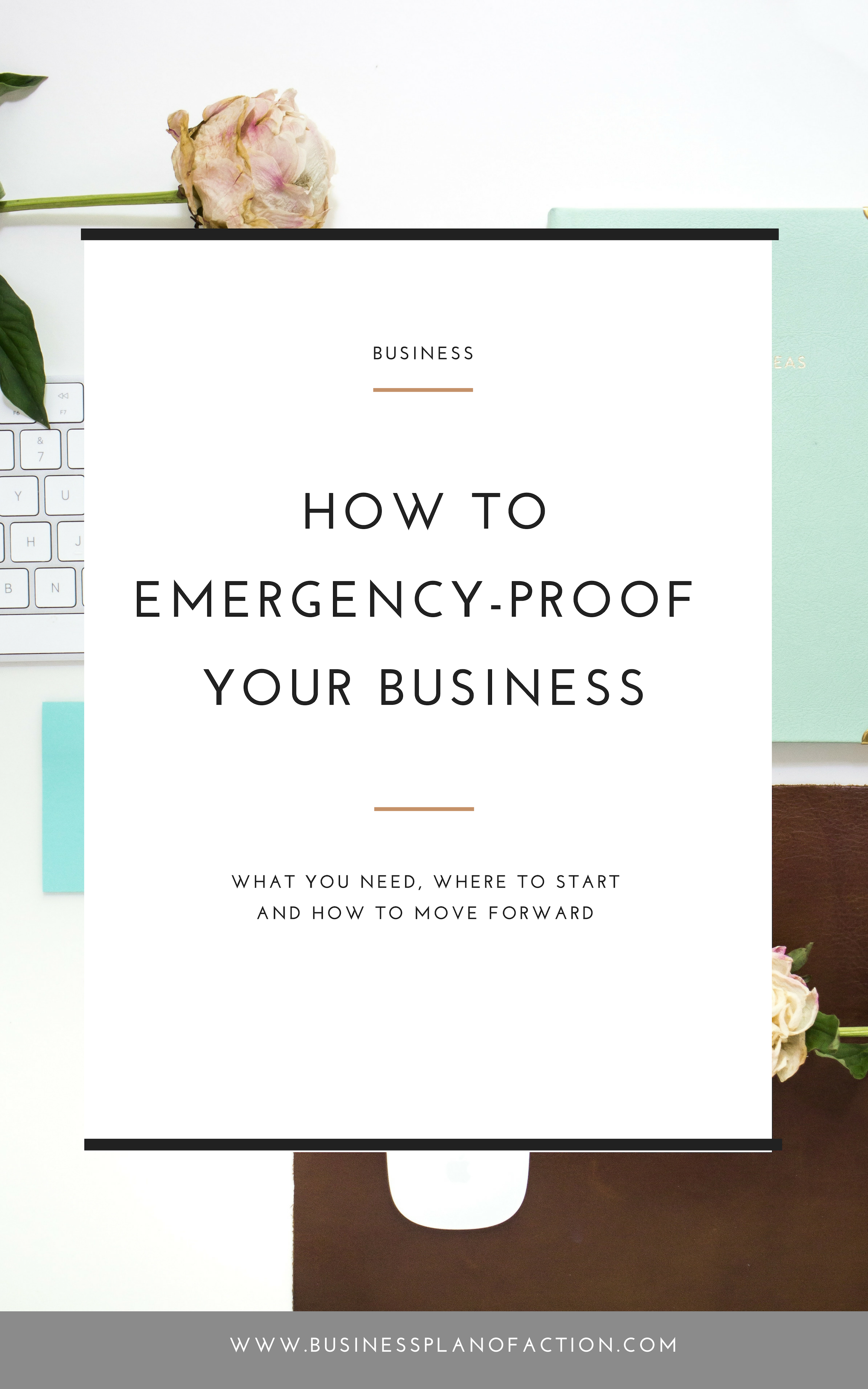 What would happen to your business if something happened to you? Do you have a plan? It's time to emergency-proof your business! Find out how!