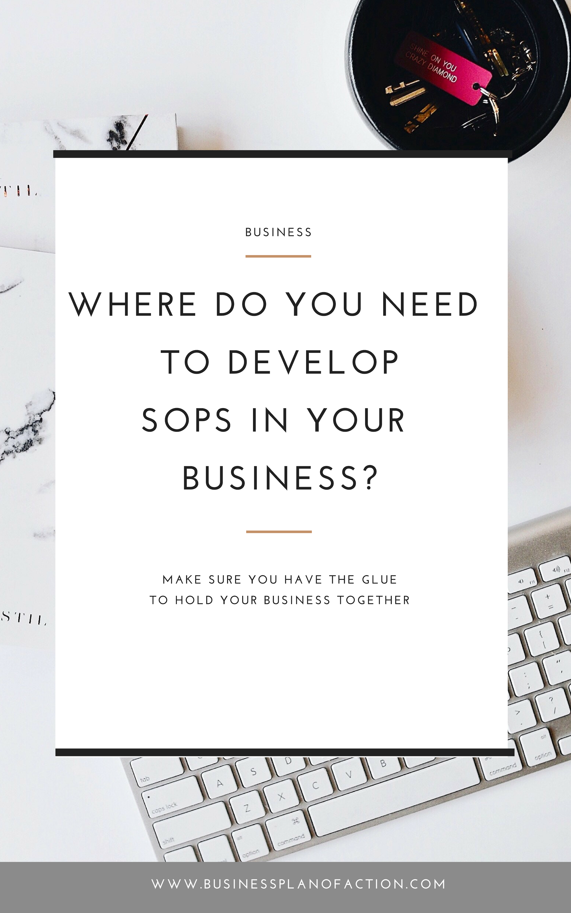 If you don't have standard operating procedures in your business, you're asking for a crisis. Find out what you need in your SOPs--now!