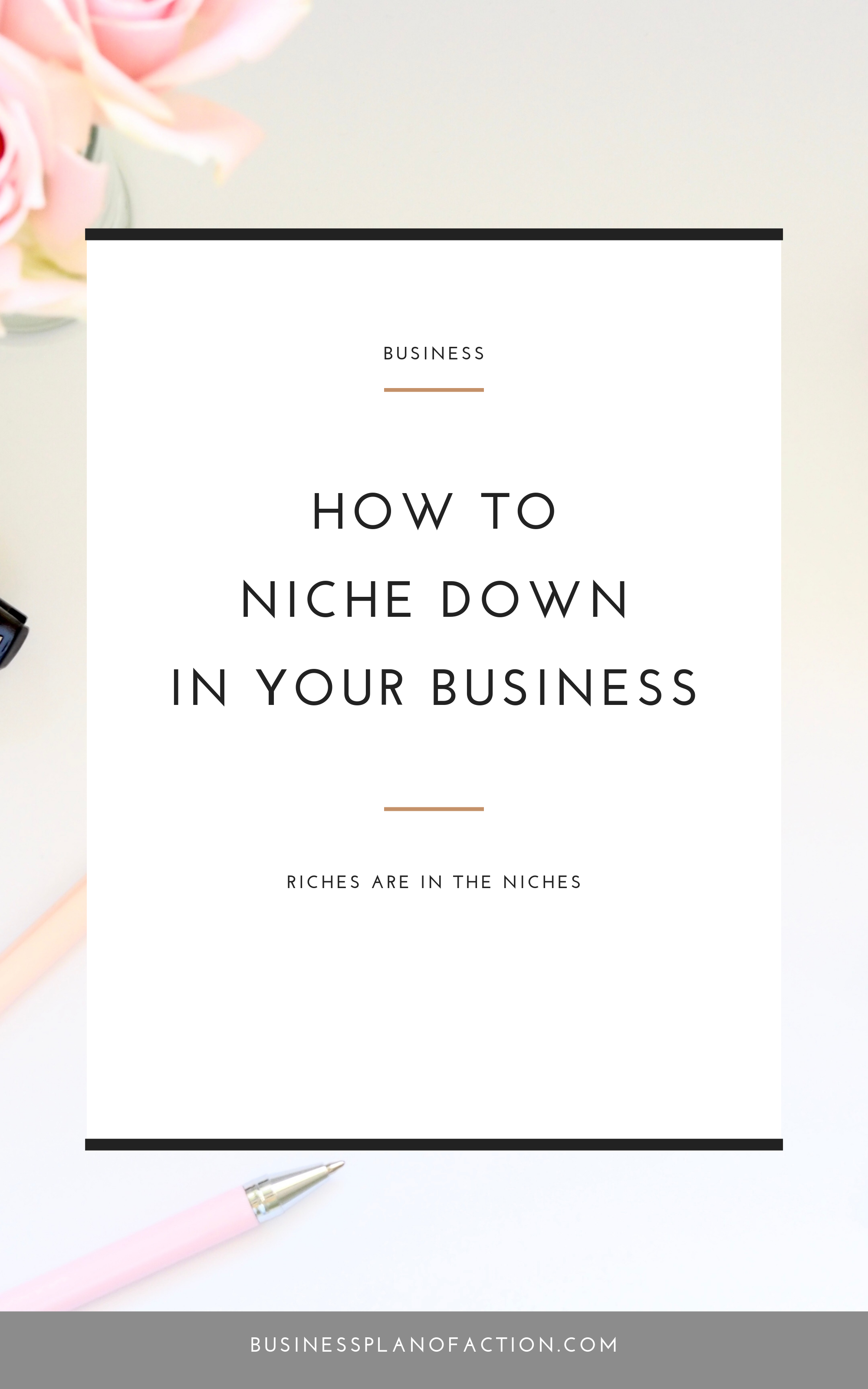 Everyone tells you to niche down, but to you it feels like you're saying no to people. The truth is, you'll be able to say yes to more business as you niche--and make more money!