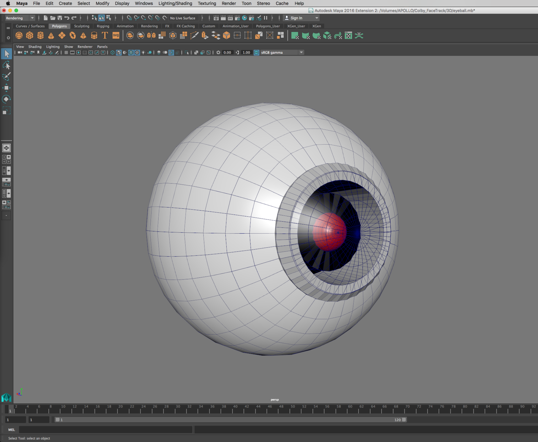 Building the robot eye in Maya
