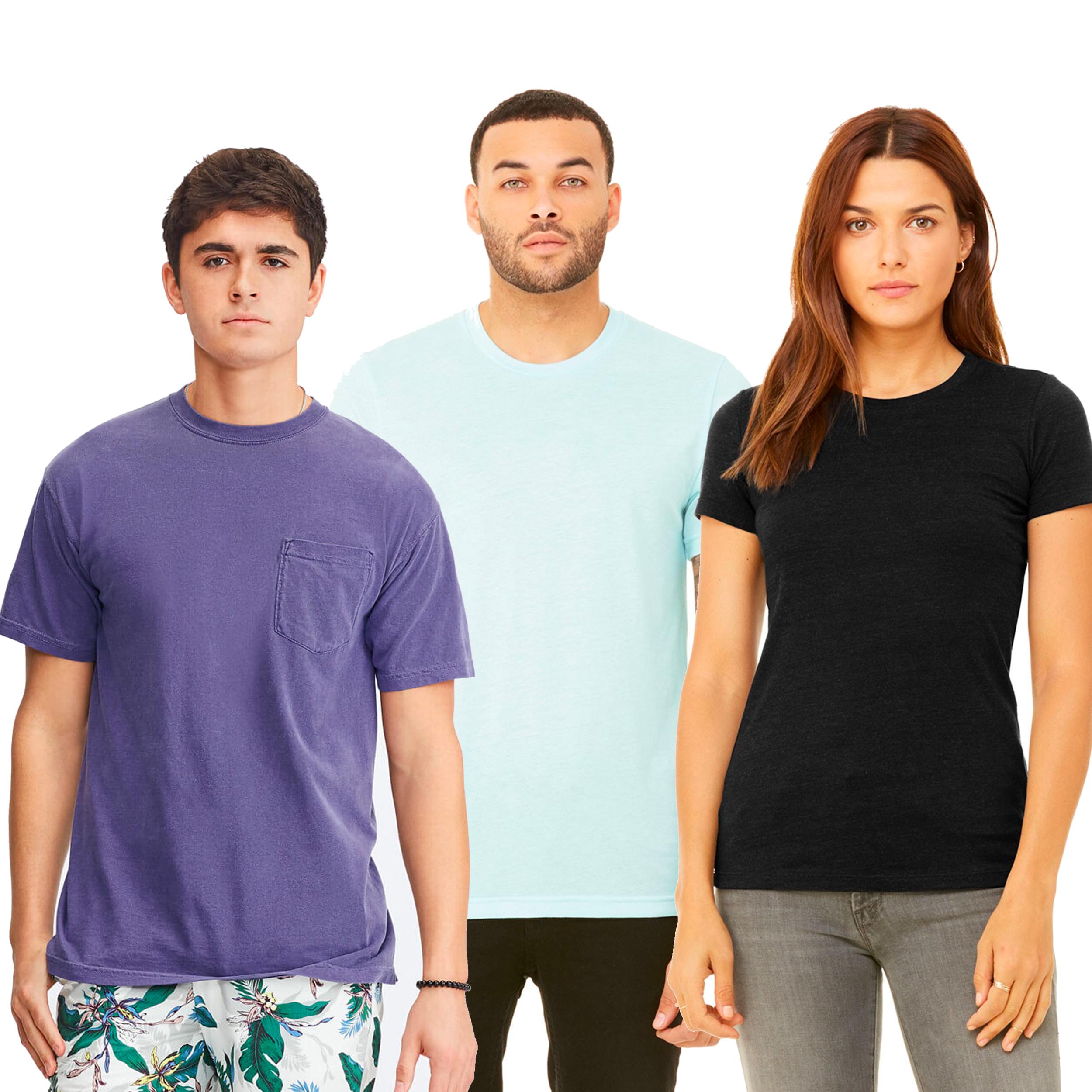 Premium products - Brands like: Comfort Colors, Bella & Canvas, Next Level