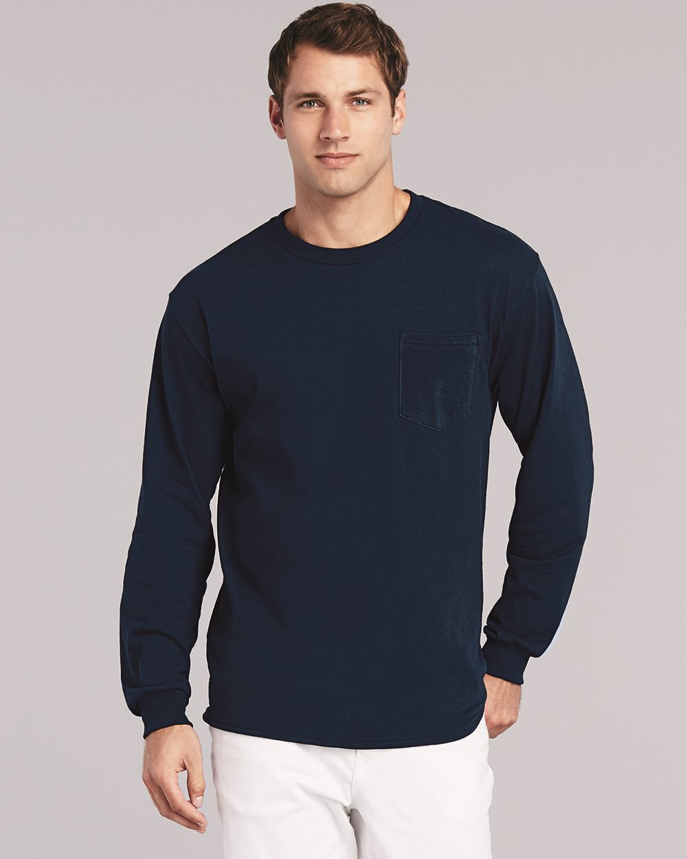 Gildan Long Sleeve Pocket Tee