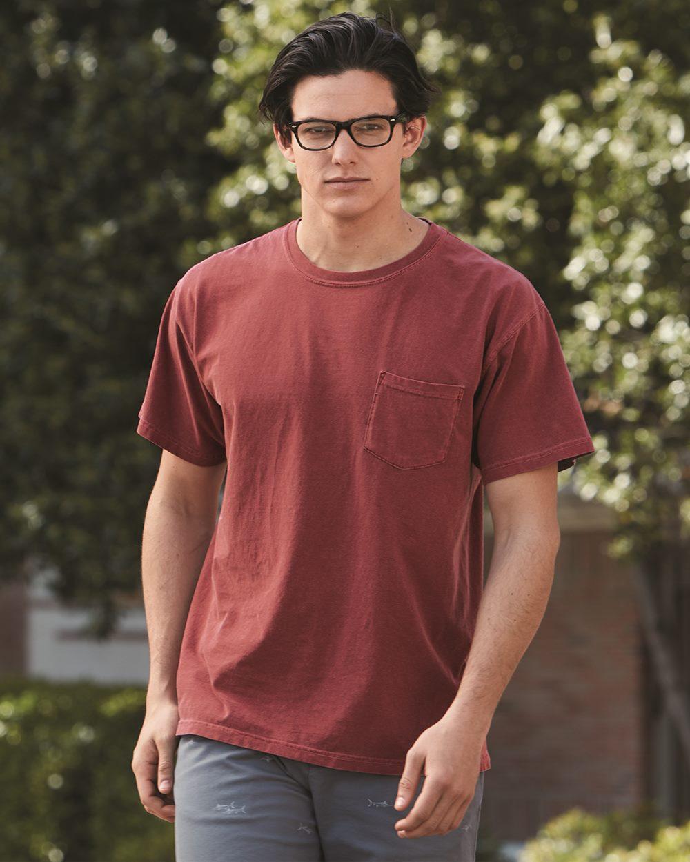 Comfort Colors Heavyweight Ringspun Short Sleeve Shirt W/ Pocket