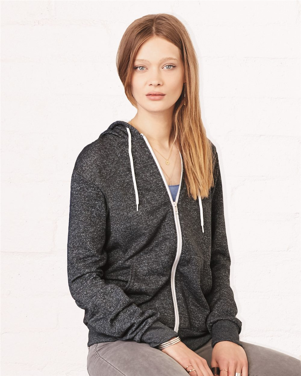 Bella + Canvas Unisex Full-Zip Hooded Sweatshirt