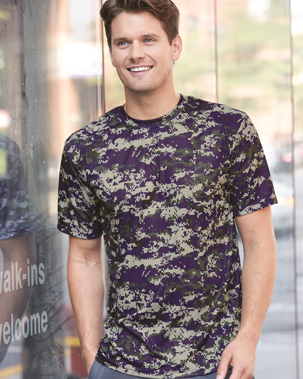 Badger Digital Camo Short Sleeve T-Shirt