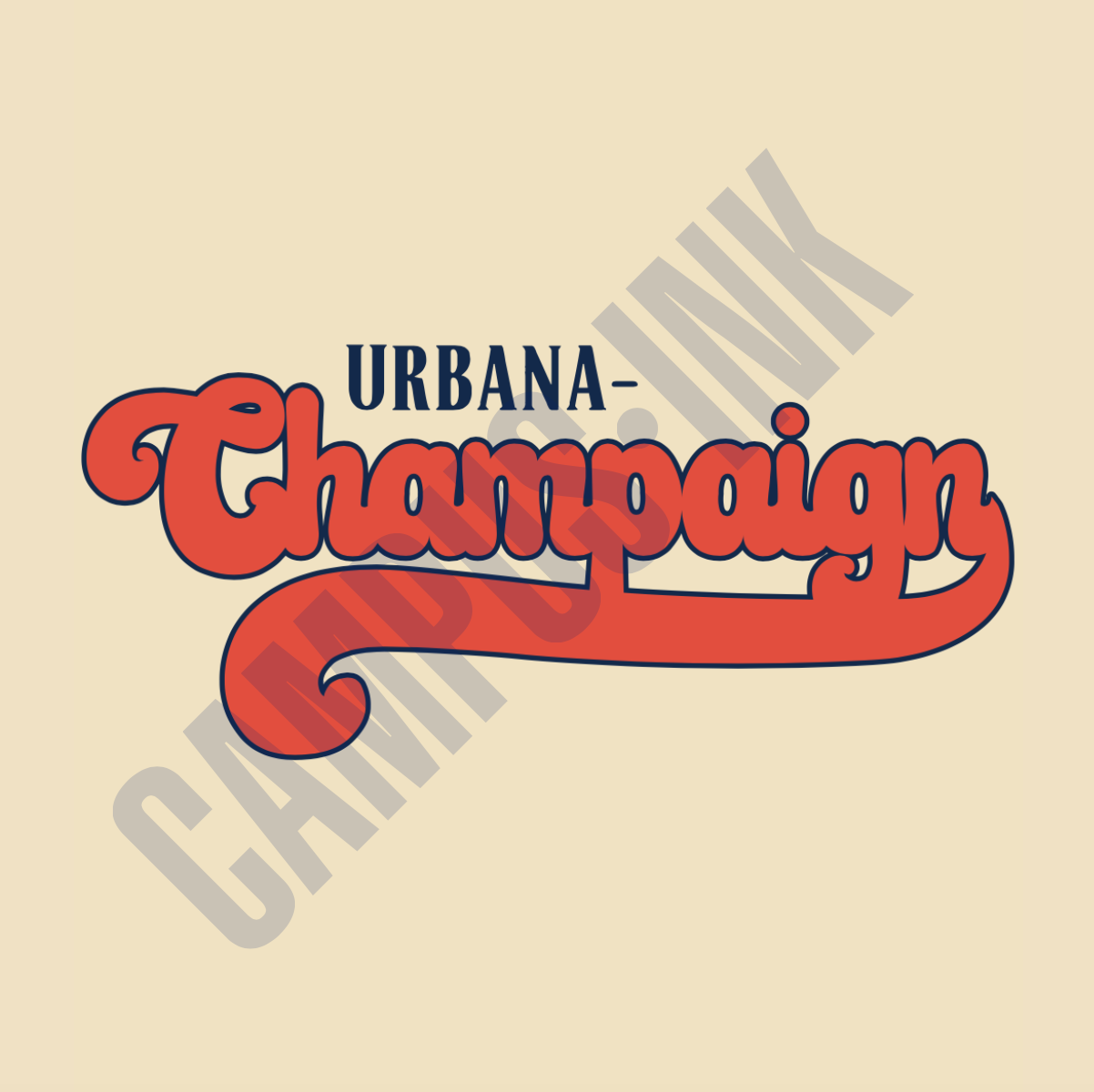 Urbana Champaign Orange and Blue