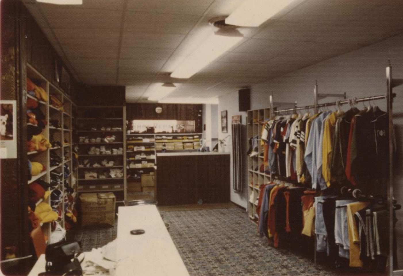Inside of Campus Sportswear on the First Floor