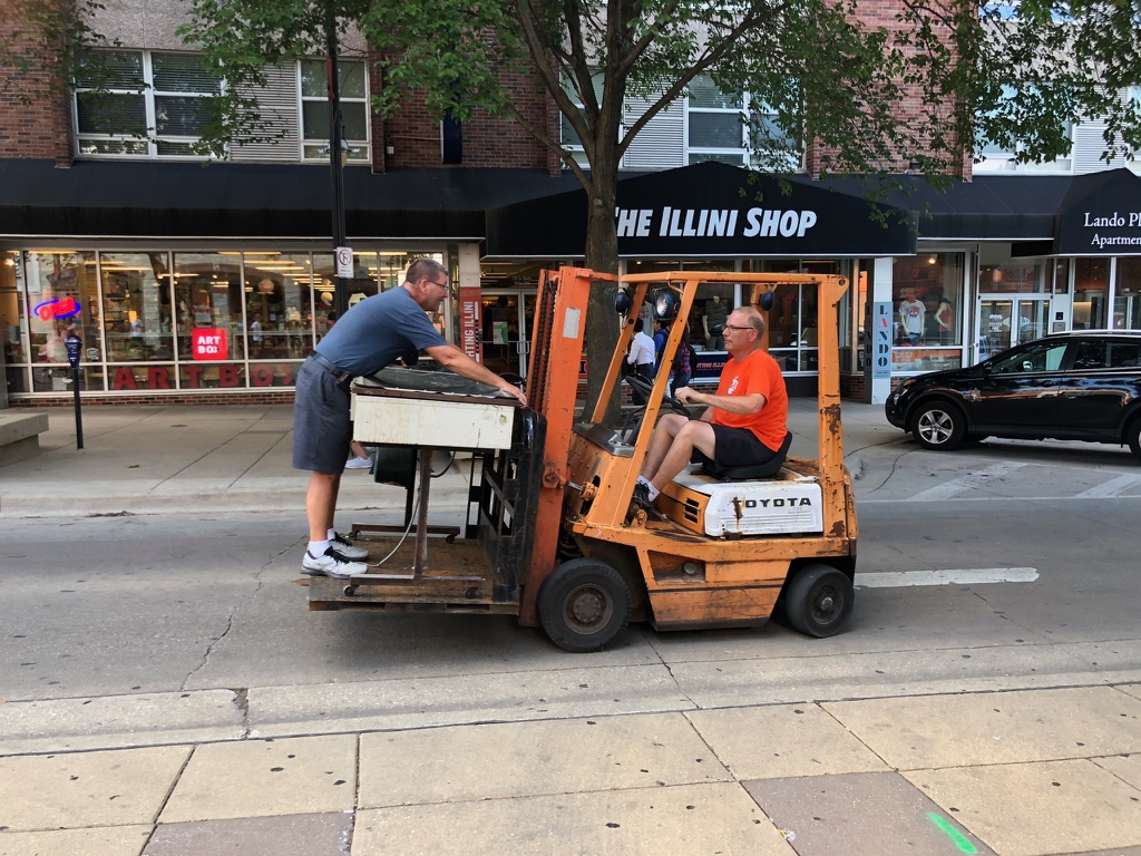 Co-Owner Tom & Jedd moving equipment!