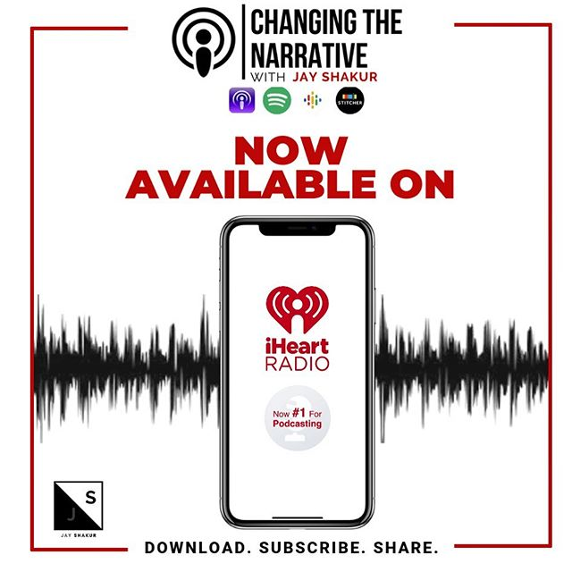 "Excited to announce that we're on iHeart Radio. Search ""Changing the Narrative with Jay Shakur""!🤘🏾🔥🙌🏾 #download #subscribe #share #podcastlife #podcast #blackpodcasts #blackpodcasters #podcaster #truth #motivation"
