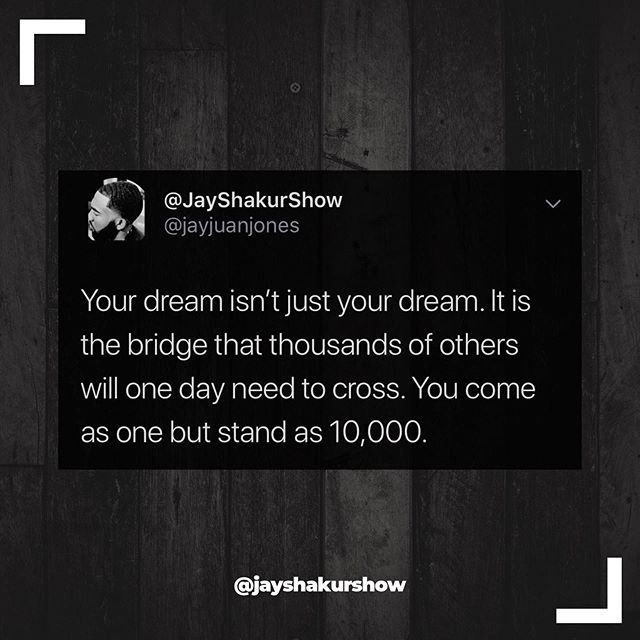 It's always bigger than you! That's why you can't give up! . . . #motivation #truth #dreamers #inspiration #pioneer #dream