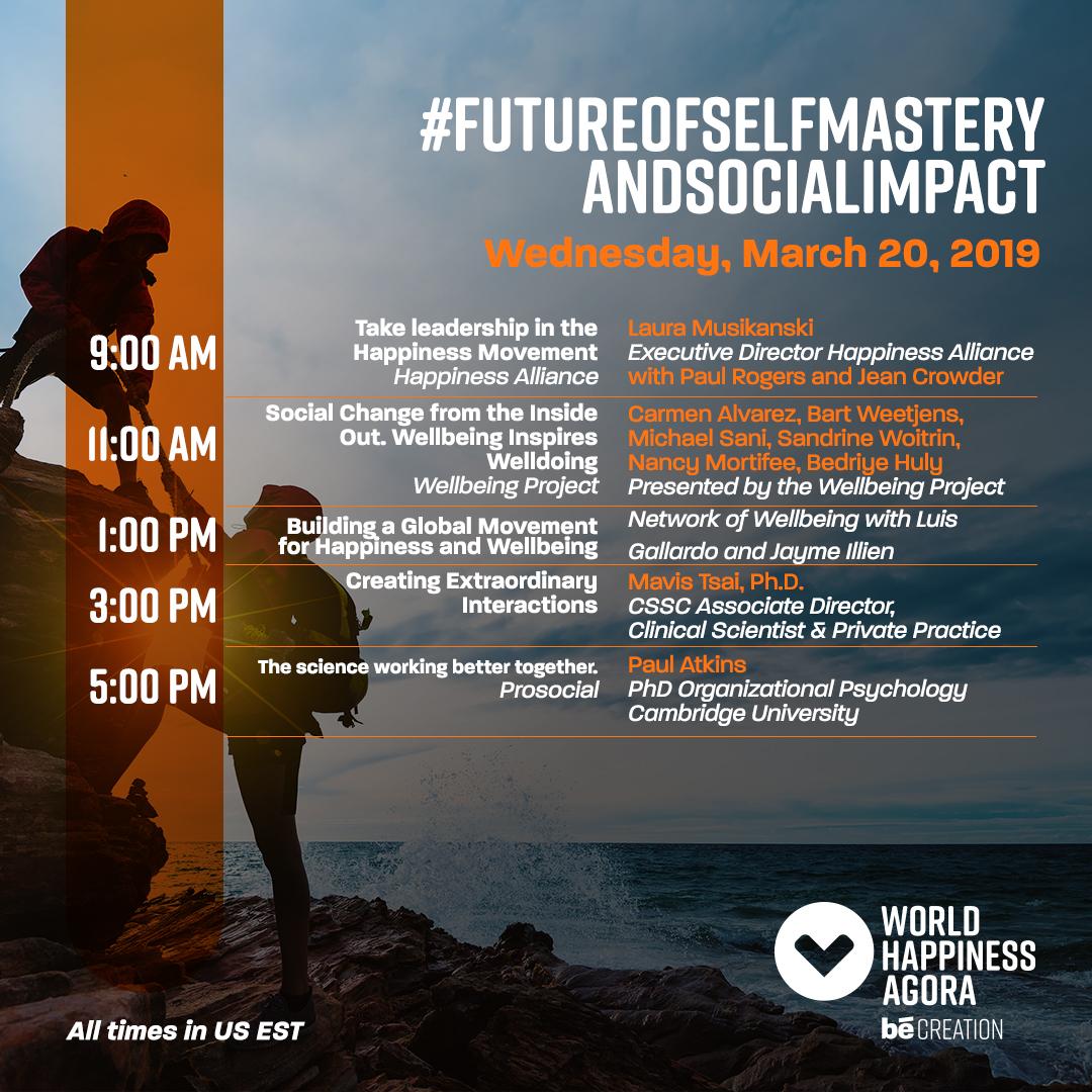 #FutureOfSelfMastery&SocialImpact   to view agenda   register here  .