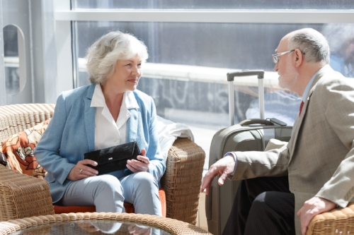 Older Couple Requiring Assisted Drop Off