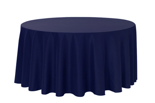 Navy 120'' Round Polyester Tablecloth $8