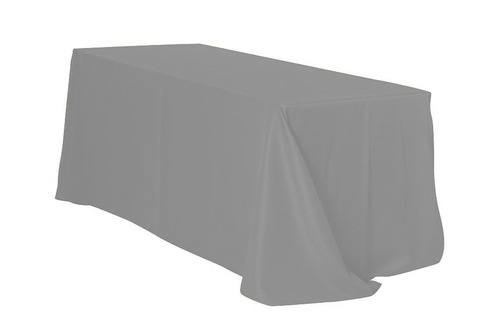 "Grey 90x132"" Rectangle Polyester Tablecloth $10"