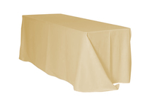 "Champagne 90x132"" Rectangle Polyester Tablecloth $10"