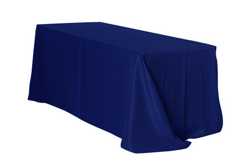 "Navy 90x132"" Rectangle Polyester Tablecloth $10"