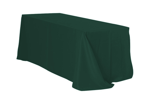 "Hunter Green 90x132"" Rectangle Polyester Tablecloth $10"