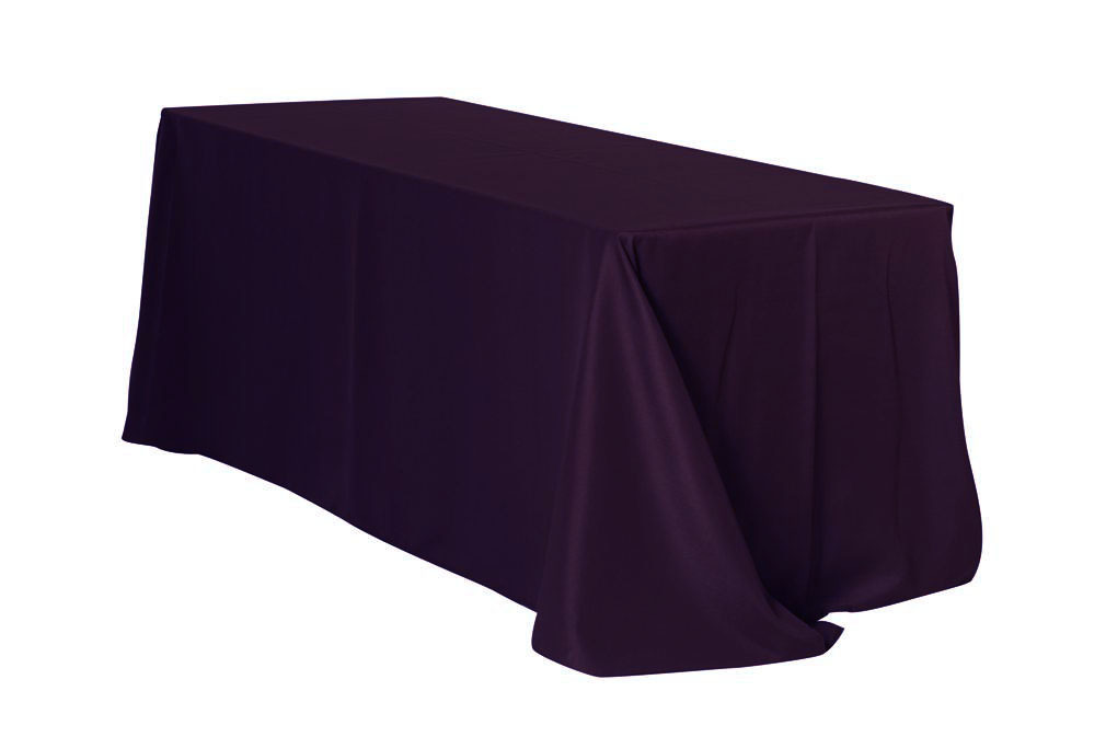 "Eggplant 90x156"" Rectangle Polyester Tablecloth $11"