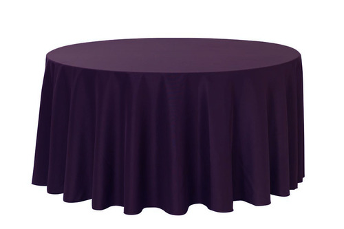 "Eggplant 120"" Round Polyester Tablecloth $8"