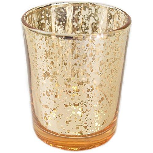 Gold Mercury Glass Votive $0.70 each