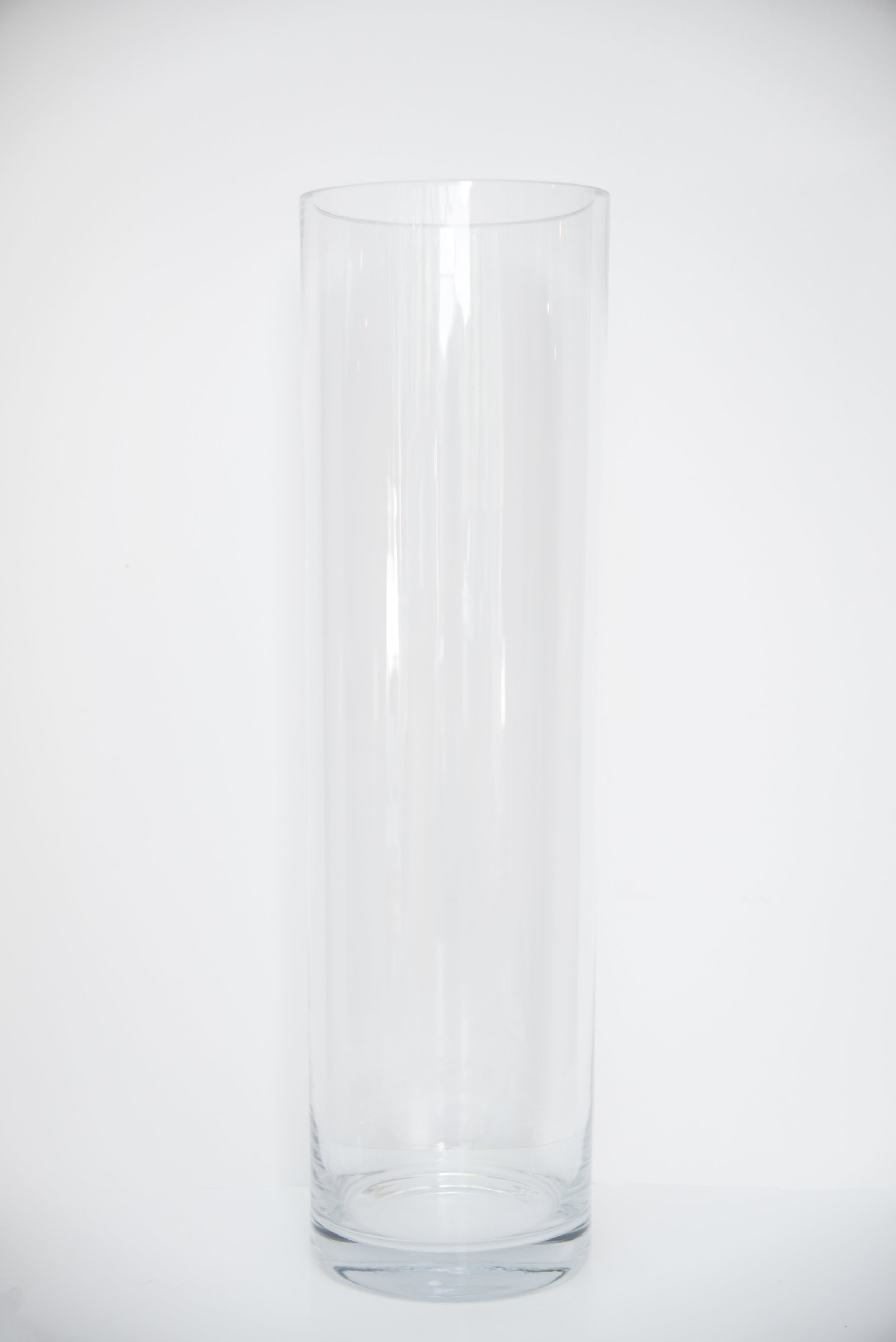 """Clear Glass Vase 19.6"""" $6.00"""