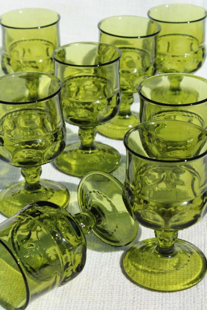 Assorted Avocado Glasses $1.00 each