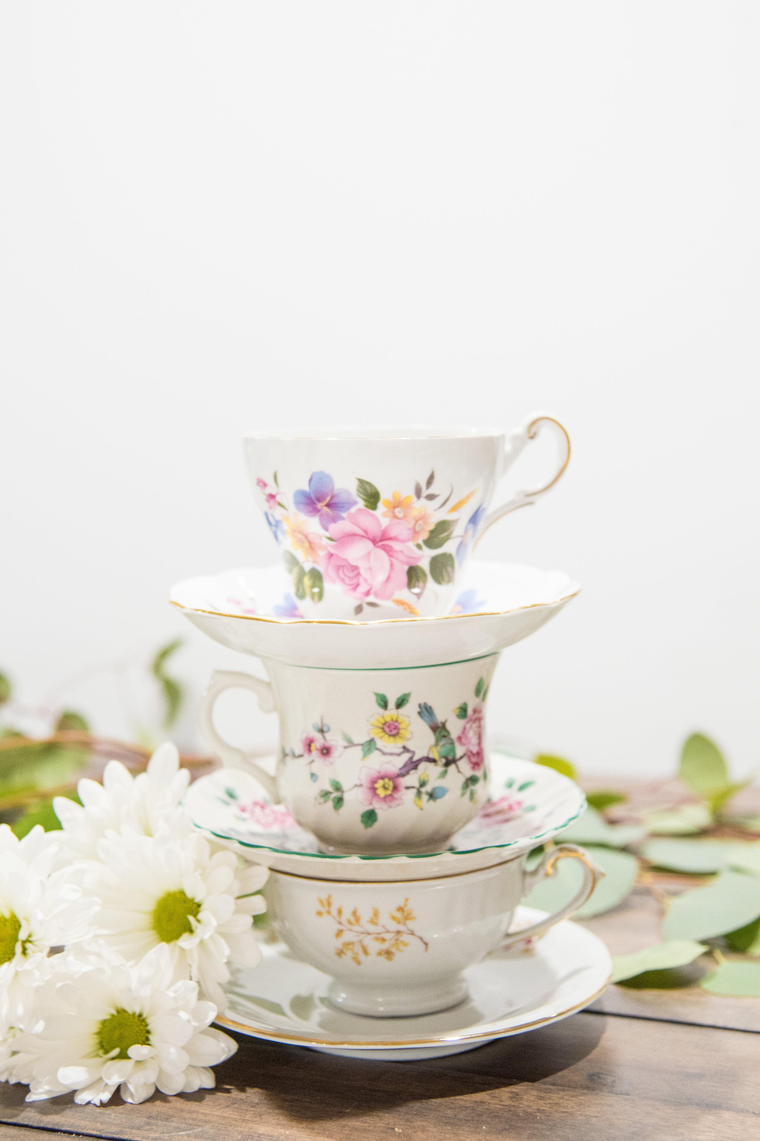 Teacups & Saucers $1.00 each