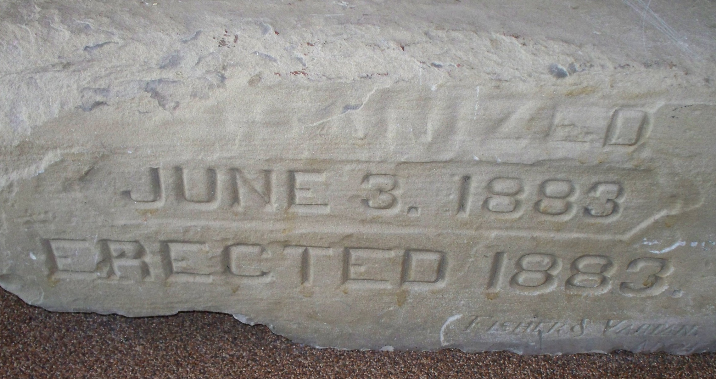 Corner Stone from the 14th and Lincoln church