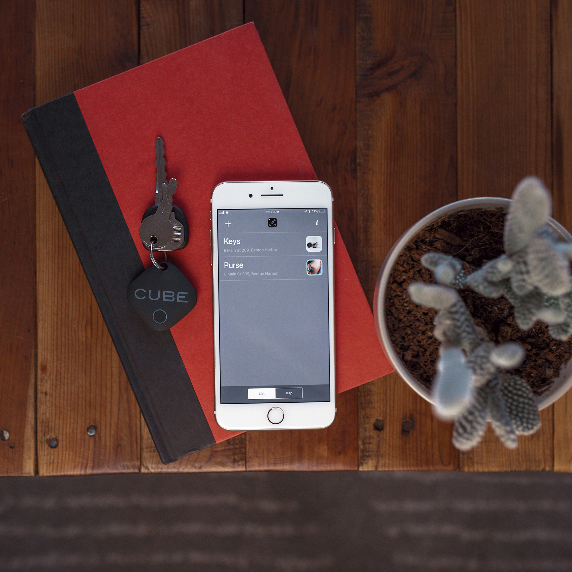 Attach and Track - Keep tabs on the things most important to you. Attach and Track via the cube app.