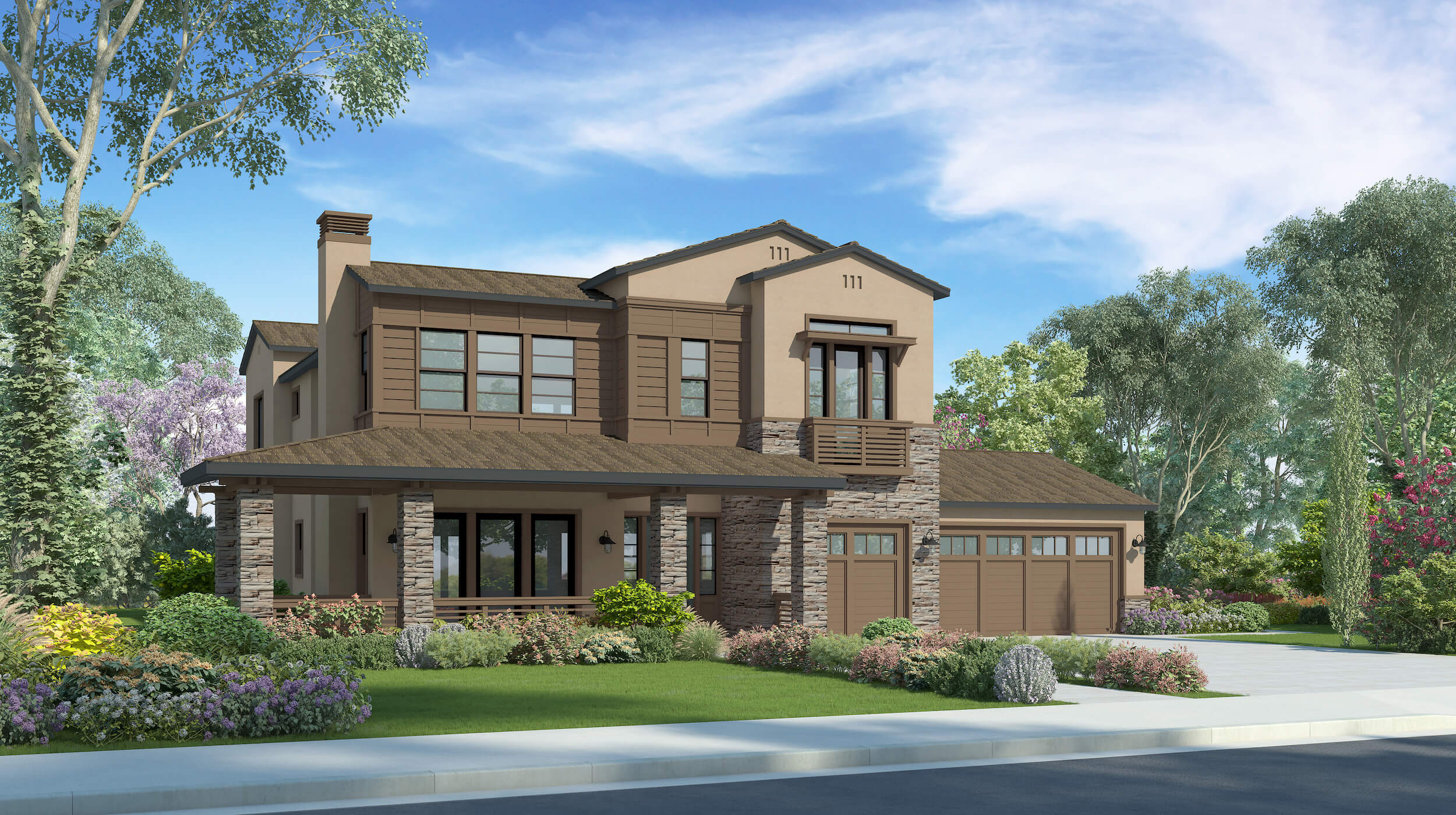 Plan 2A - California Ranch - 4,047 sf