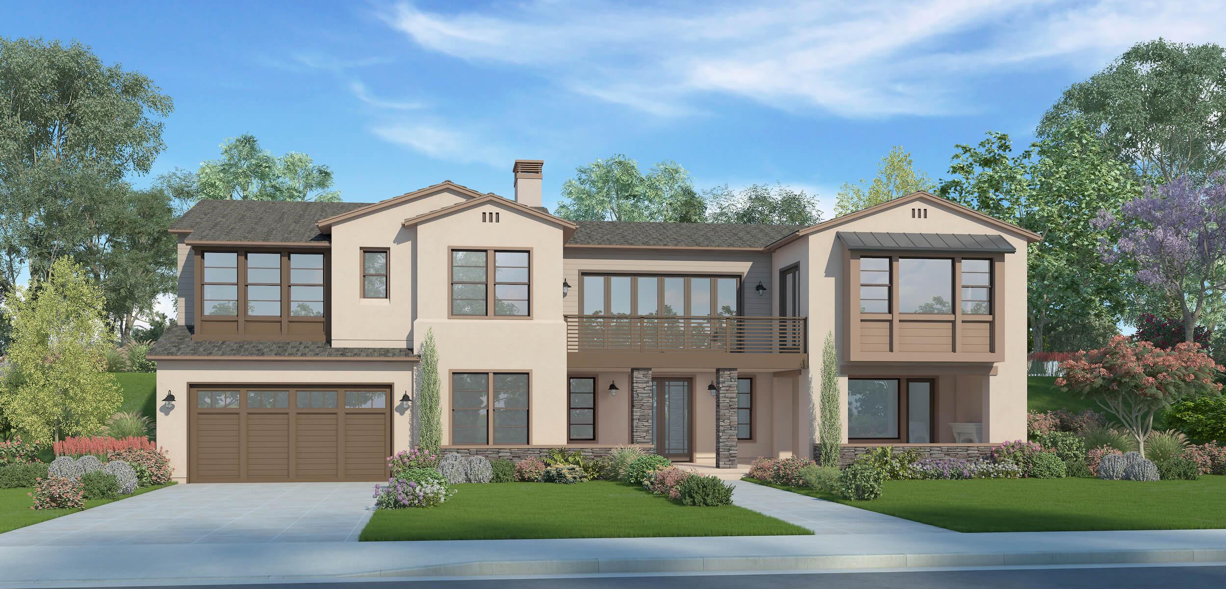 Plan 5A - California Ranch - 4,037 sf