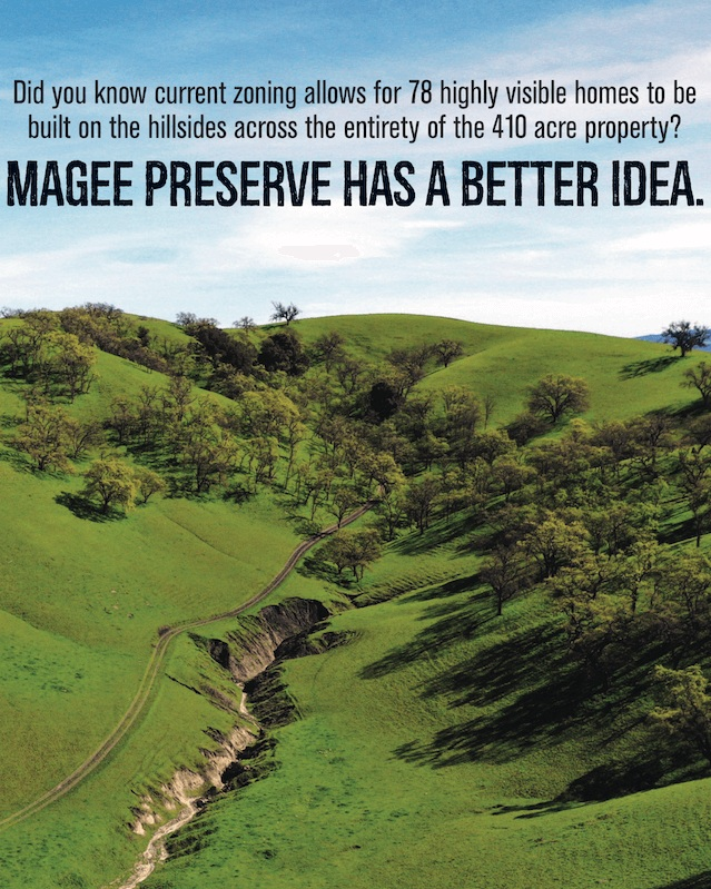 Did you know that while current zoning designates only 6% of the property as open space, Magee Preserve protects 381 out of 410 acres as new permanent public open space, preserving Mt. Diablo's foothills forever? Learn more about the project's public benefits. -