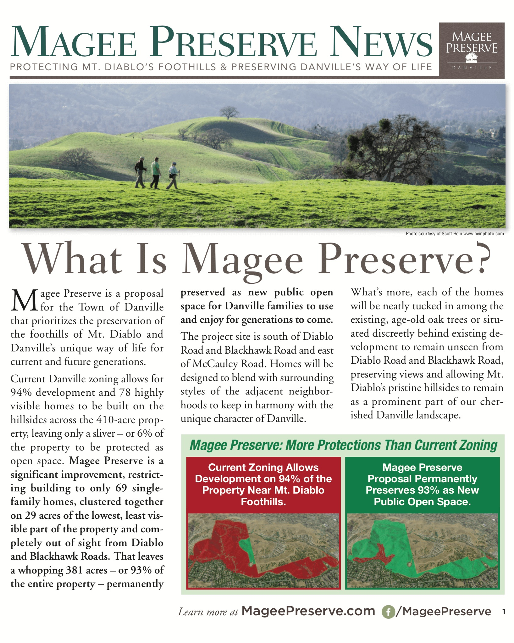 Learn about Magee Preserve, the proposal for the Town of Danville that prioritizes the preservation of the foothills of Mt. Diablo and Danville's unique way of life for current and future generations. -