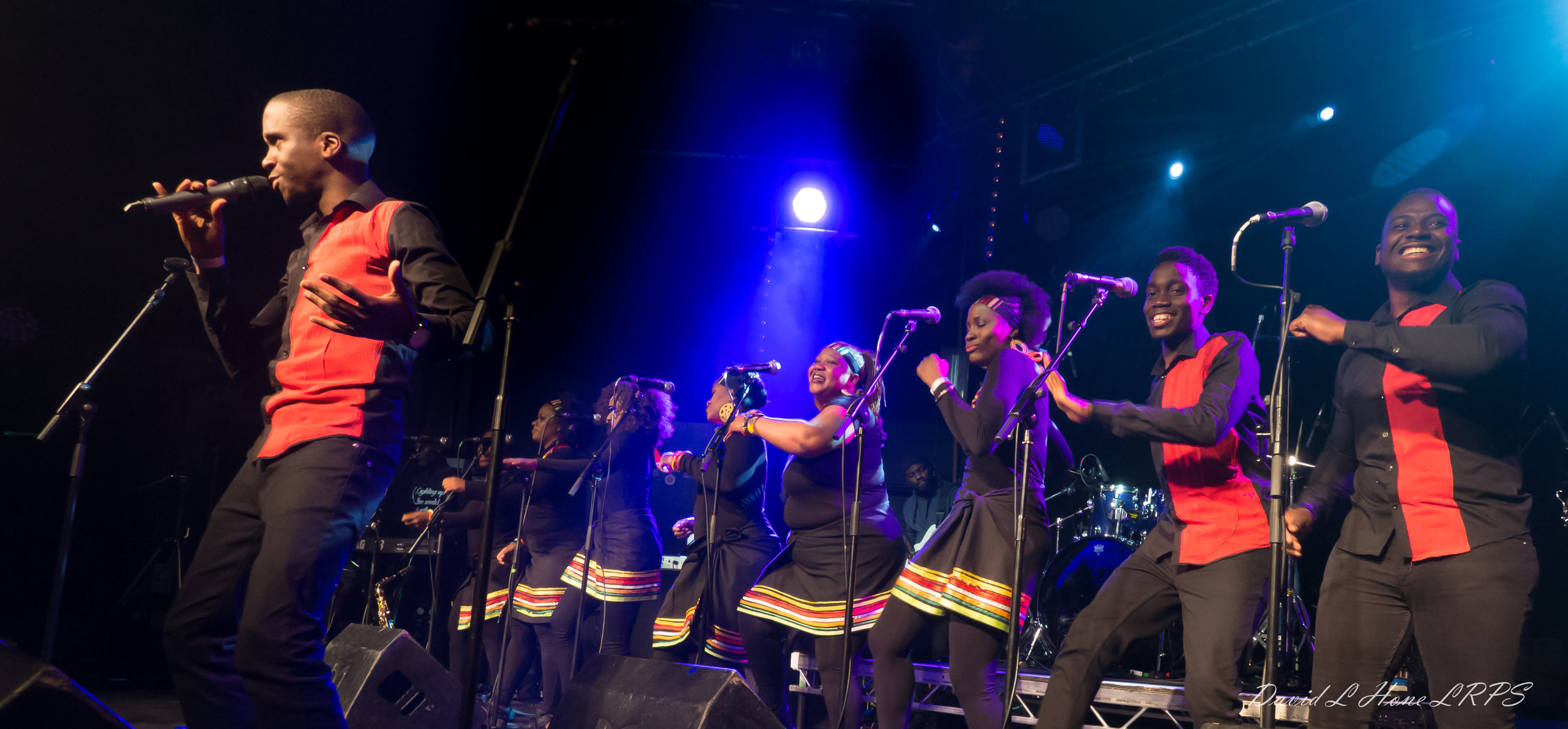 Soulful vocals from The London African Gospel Choir (above) and The London Lucumi Choir at a concert taking place during Black History Month.