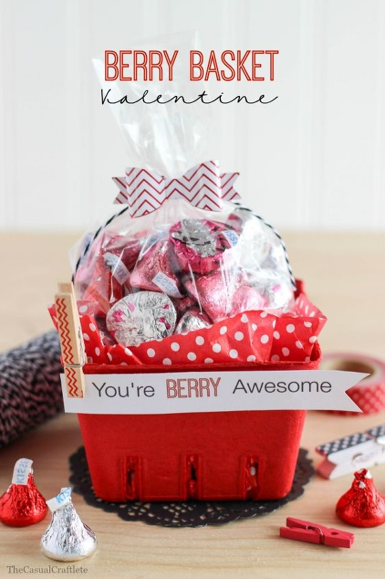 Berry Basket Valentine Pop-by - from Hometalk.com