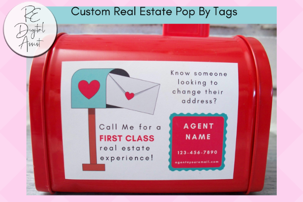 Real Estate Valentine's Pop-By Mini Mailboxes with Custom Printable Tags