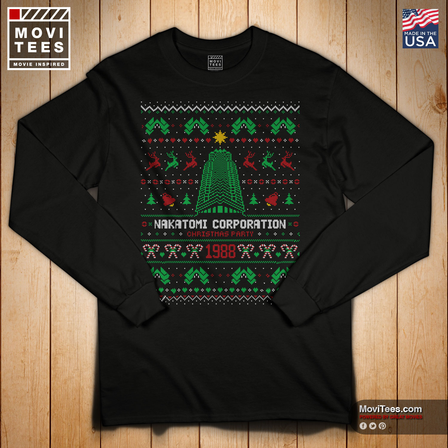 Nakatomi Corporation 1988 Christmas Party Ugly Sweater T-Shirt