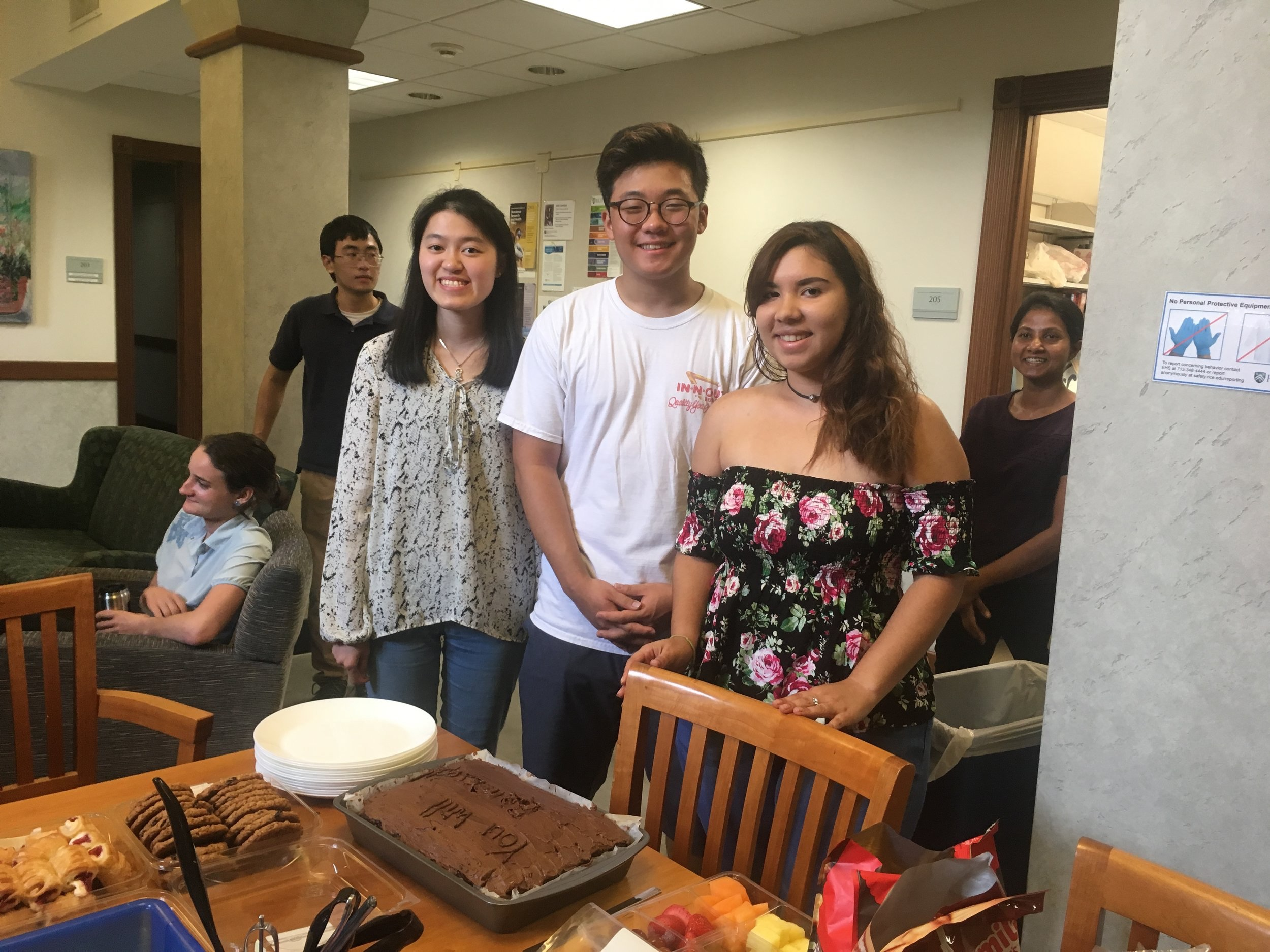 A celebration in honor of our summer students who have so kindly graced us with their presence over the past ten weeks. We will miss all of you!