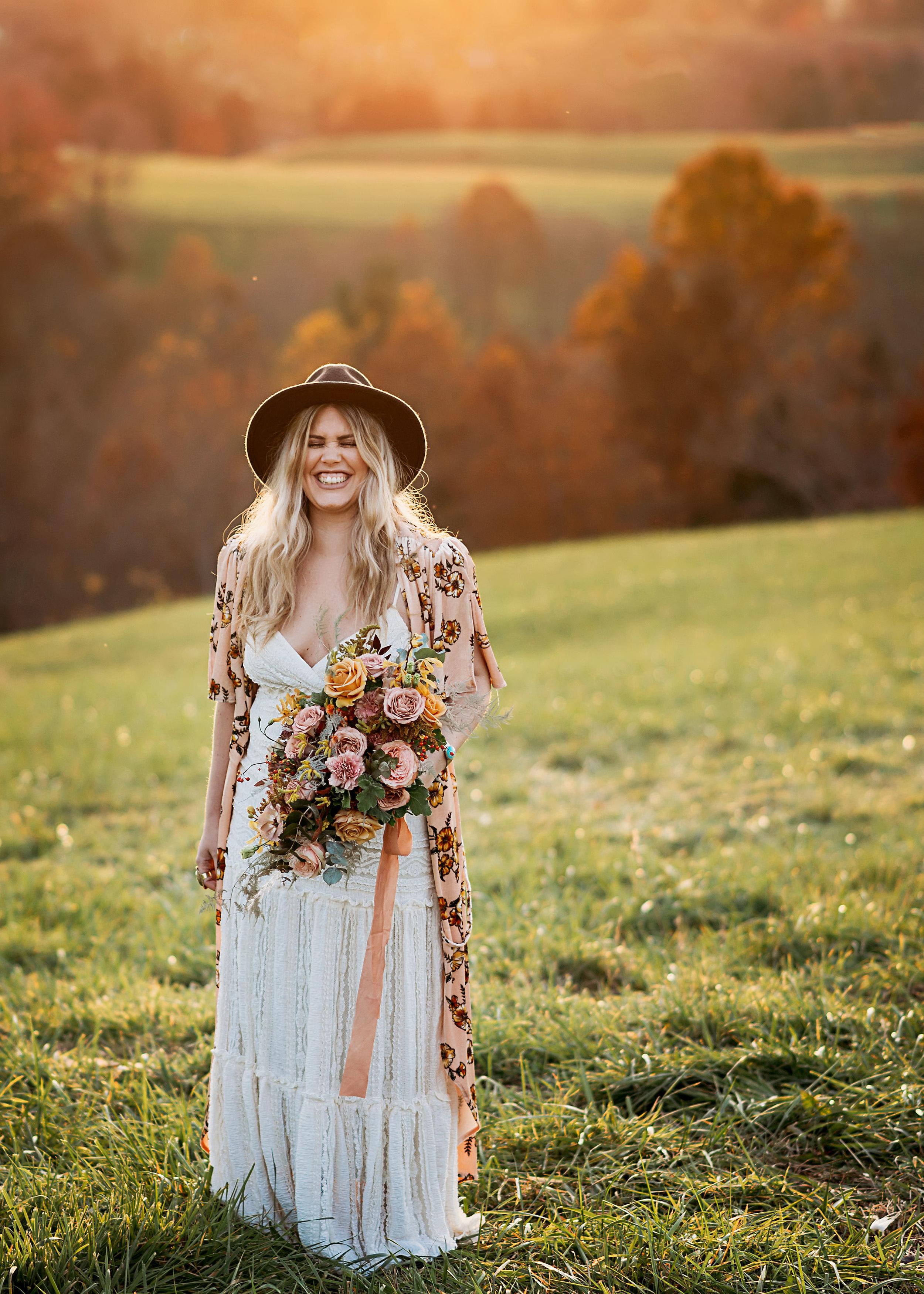 bohemian fall wedding
