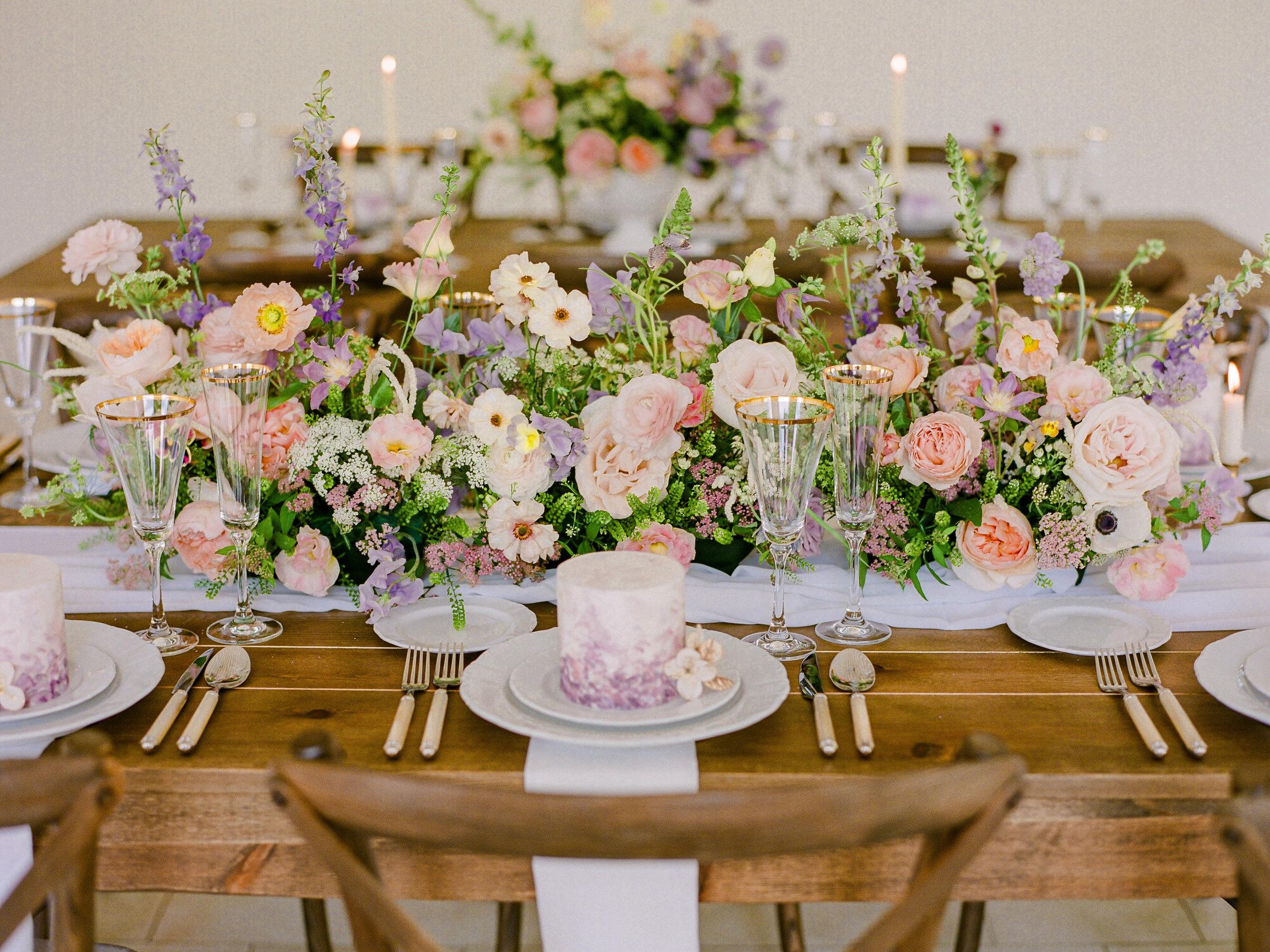 flower table runner flower garland