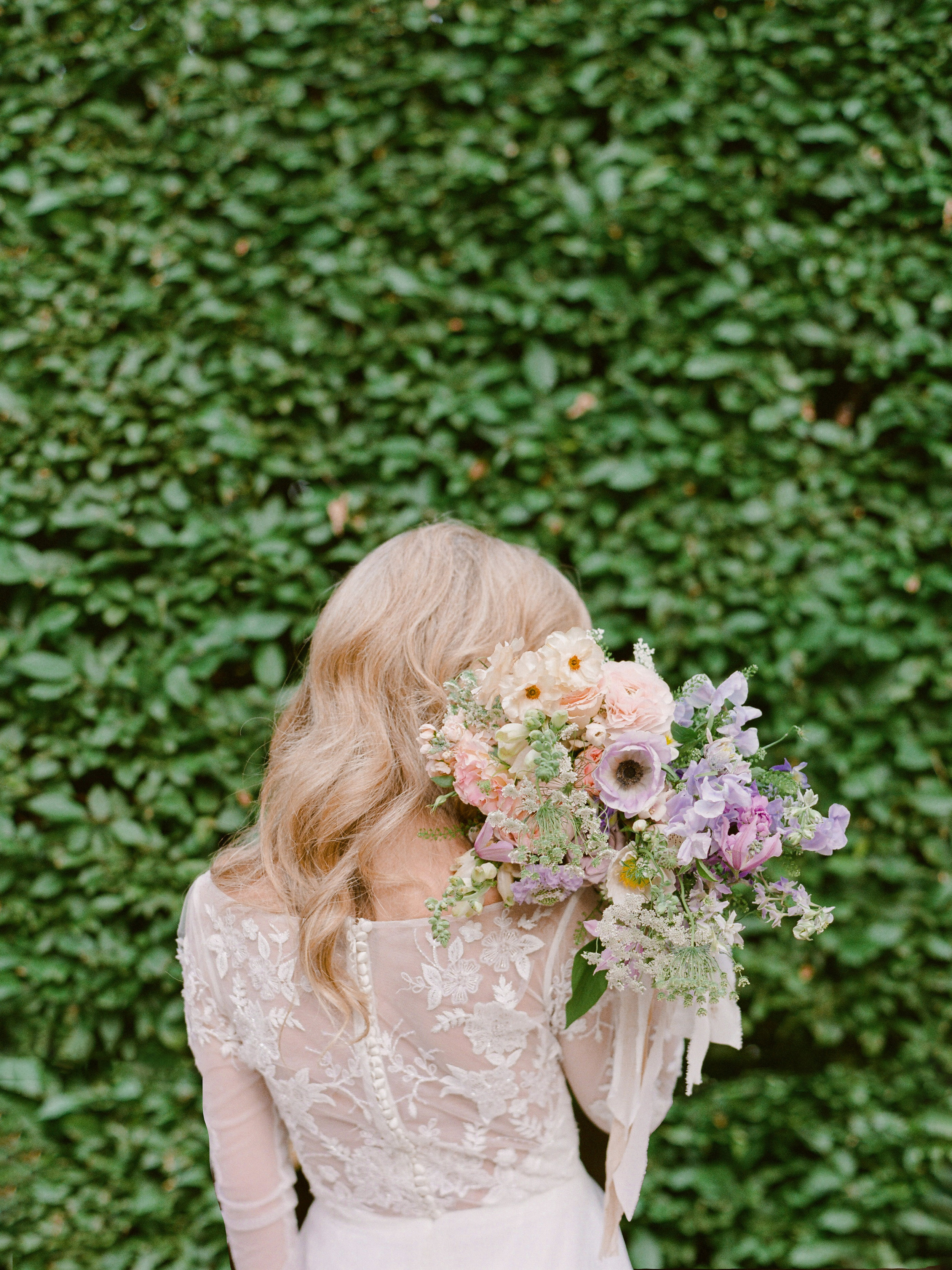 lavender blush wedding bouquet