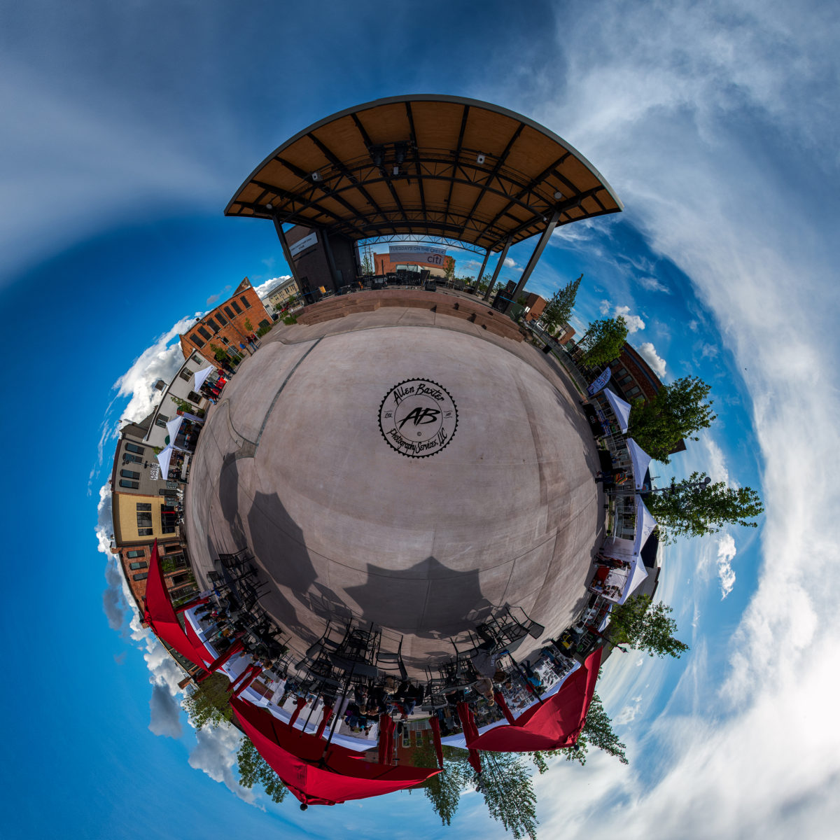 Tour the Plaza - Click below to take a 360 degree tour of Indian Creek Plaza and Downtown Caldwell courtesy of AB Photography Services.