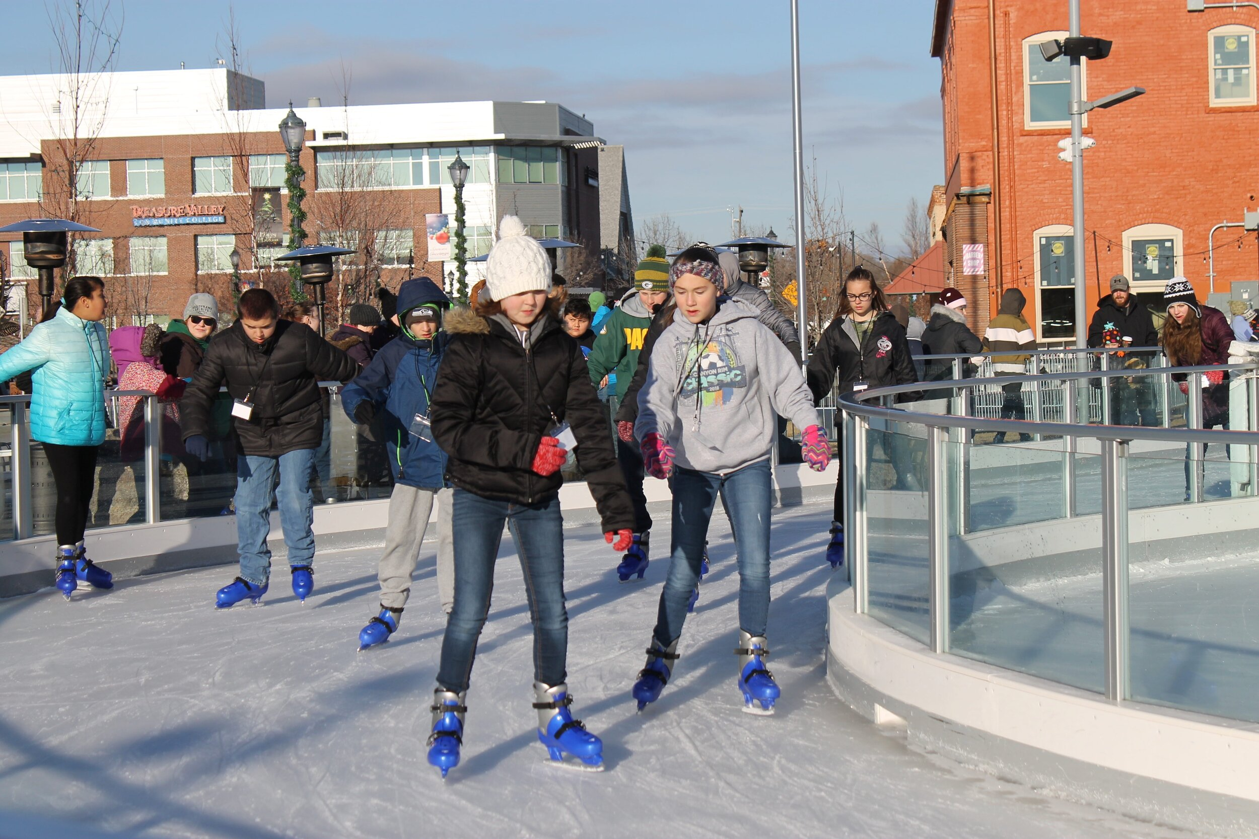 Free skate time allows students to practice the skills they learned