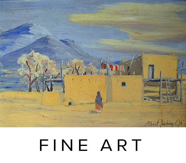 Historic fine art, folk art, American Western painters; fine art, paintings, drawings, prints.